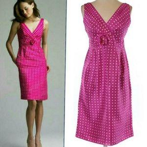 J. Crew | Silk pink polka dot dress 6